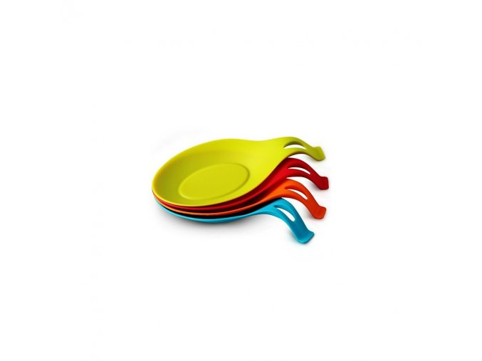 orblue flexible almond shaped silicone spoon rest 4 pack