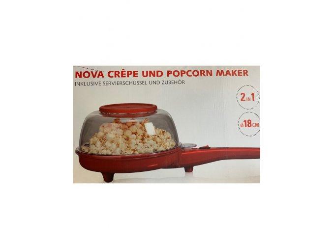 Výrobník popcornu a palačinek Nova