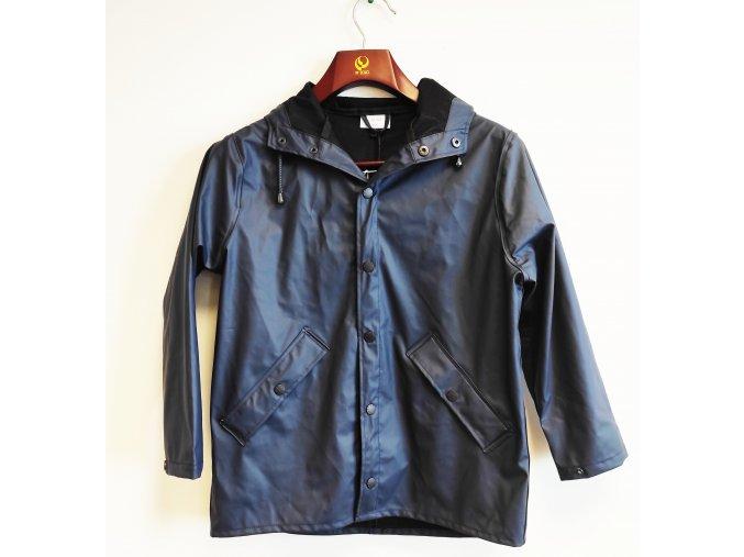 Dětský nepromokavý kabát s kapucí Grunt modrý