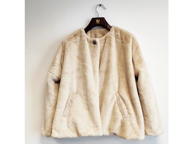 Dámské fashion poncho s broží NKN béžové