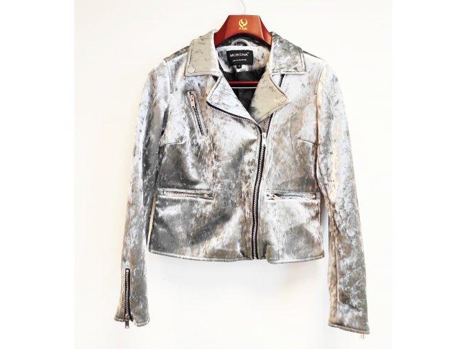 Dámská fashion bunda Morena, stříbrná