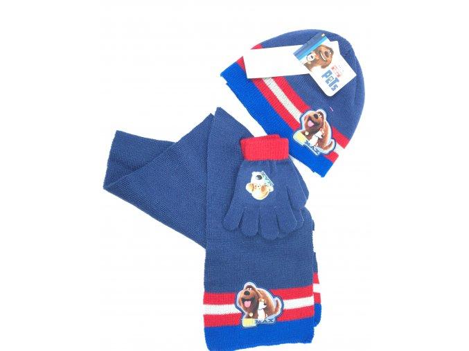 Dětská sada- čepice, rukavice, šála- 1 balení