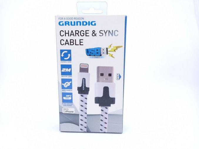 Grundig nabíjecí a synchronizační kabel proti zamotání, pro iPhone, 2m