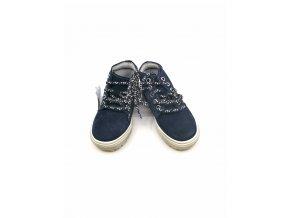 Dětská kotníková obuv - semišová - modrá DPK (velikosti 30)
