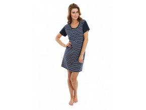EVONA- dámské šaty s krátkým rukávem (Velikost XXL)