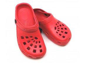 Letní obuv CLOGS - červená
