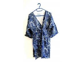 SORBETTO- dámské letní šaty modrobílé (Velikost S/M)