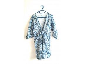 SORBETTO- dámské letní šaty světlemodrobílé (Velikost S/M)
