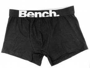 Pánské boxerky Bench - černé s bílým nápisem