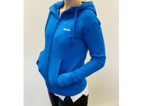 Mikina Bench - modrá na zip - UNISEX (Barvy  sport. kabelky XXL)