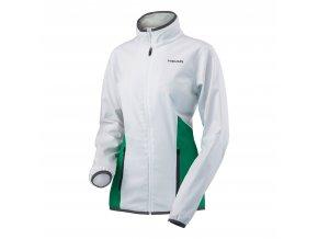 Dětská a dámská sportovní bunda Head bílo zelená