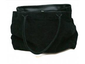 Pulicati- dámská kožená kabelka- černá