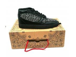Pánské boty sneakers parisiennes SIXTY JUNE černo šedé (velikosti 44)