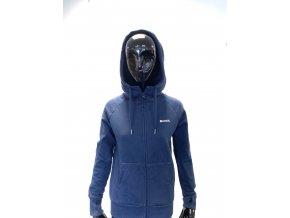 Mikina Bench Unisex - tmavě modrá na zip (Velikost XS)