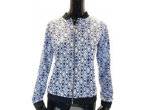 Dámský svetr RP TAMAR - modrá na zip (Velikost XL)