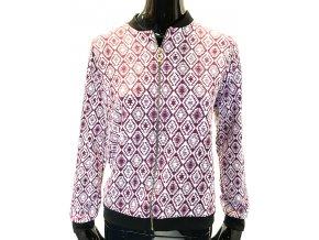 Dámský svetr RP TAMAR - bordó na zip (Velikost XL)