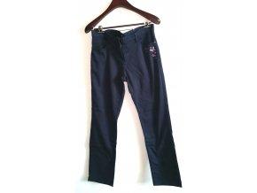 Dámské kalhoty RIU Paris modré s motýly (Velikost 46)