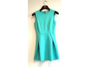 Dámské šaty Vintage boutique tyrkysová (Velikost XS)