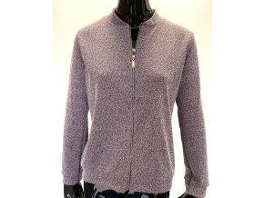 Dámský svetr na zip RP Tamar vínový (Velikost XL)
