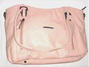 Dámská kožená kabelka Hexagona pudrově růžová