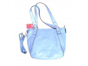 Dámská kožená kabelka Hexagona světle modrá, střední