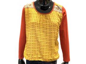 Dámské tričko Guitare Barcelona oranžovo žluté (Velikost XL)