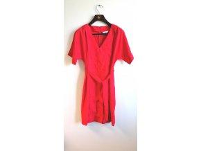 Belly button dámské těhotenské šaty červené