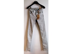 Dámské skinny jeans COJ světle šedé (Velikost W32/L30)