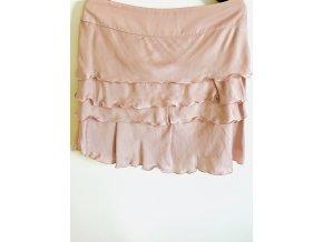 Dámská sukně Dolches růžová s kanýrky (Velikost 48)