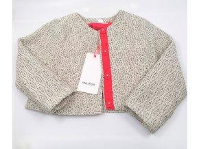 Dívčí kabátek Marése bílošedý (Velikost 94)
