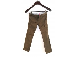 Dětské kalhoty s kapsami Marése hnědé (Velikost 94)