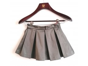 Dívčí sukně Marése šedá s mašlí, barevná spodnička (Velikost 94)