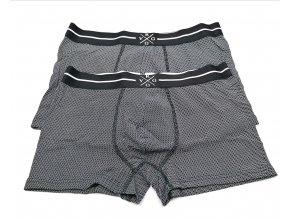 Pánské boxerky KYGOLIFE 2ks černošedé (Velikost S)