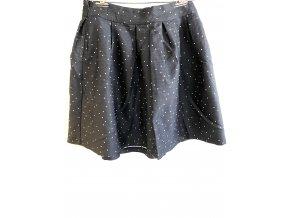Dámská sukně FRNCH černá s puntíky (Velikost S)