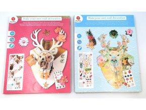 Vytvoř si vlastní 3D dekoraci- jelen (Barva zelená)