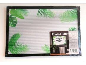 Předtištěná písmenková tabulka 30x45 cm (s písmeny list palmy)