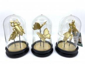 Dekorace zlatá zvířata v kopuli (druh Želvy)