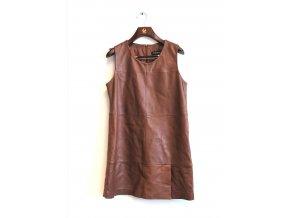 Dámské kožené šaty OAKWOOD- hnědé