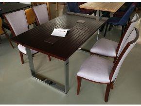 12 Jídelní stůl masiv rozkládací GR S1 tmavý dub