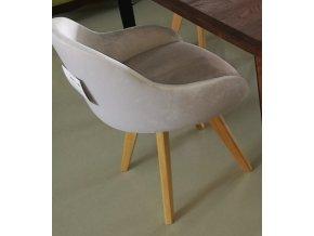 18A Designová čalouněná židle krémová 1