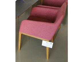 19 Designová čalouněná židle růžová