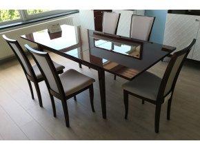 31 Rozkládací jídelní stůl vysoký lesk