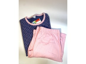 Dámské pyžamo Evona fialové se srdíčky