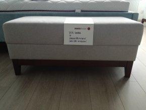 Designová lavička VIA krémová