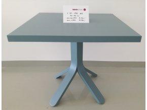 Dřevěný stůl  F ST 1712 světle modrý 80x80cm
