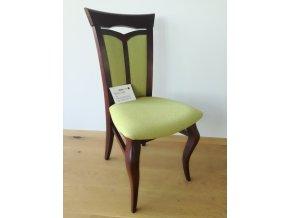 Designová dřevěná čalouněná židle Milano zelená