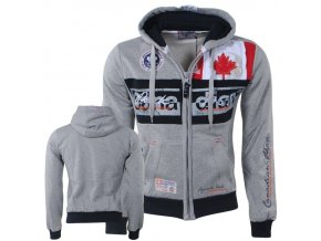 bv 2156 canadian peak trendy heren vest capuchon face grijs moda italia fashion 1