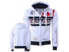 bv 2157 canadian peak trendy heren vest capuchon face wit moda italia fashion 1