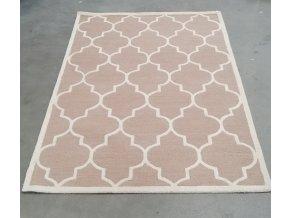 Vlněný kusový koberec 155x245 cm (Barva tmavě šedá)
