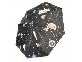 B.Cavalli- automatický deštník - motiv casino (Barva zelená)